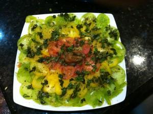 Tomato Carpaccion wo cheese