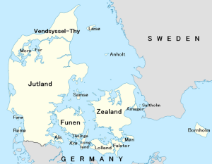 MAP-Denmark with islands